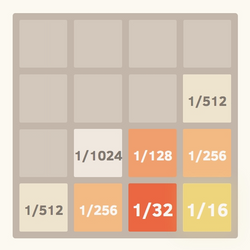 2048 with Fractions