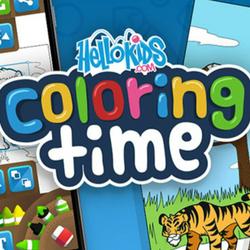 HelloKids Coloring Time - Animals