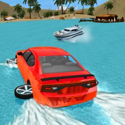 Water Slide Car Race - Water Surfing Stunts